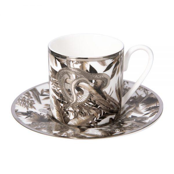 Roberto Cavalli - Tropical Jungle Espresso Cup & Saucer - White