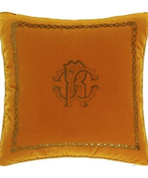 Roberto Cavalli - Venezia Reversible Cushion - 40x40cm - Mustard Yellow