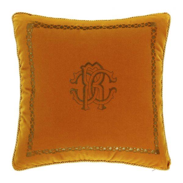 Roberto Cavalli - Venezia Reversible Cushion - 40x40cm - Mustard Yellow