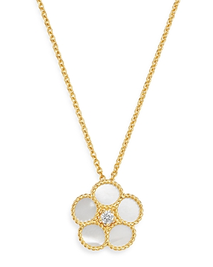Roberto Coin 18K Yellow Gold Daisy Mother-of-Pearl & Diamond Pendant Necklace, 16 - 100% Exclusive