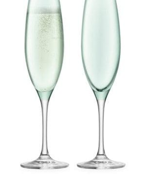 Sorbet Champagne Flute Two-Piece Set