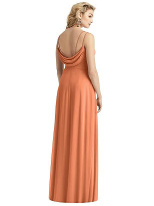 Special Order Cowl-Back Double Strap Maxi Dress with Side Slit