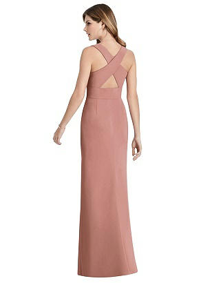 Special Order Criss Cross Back Trumpet Gown with Front Slit