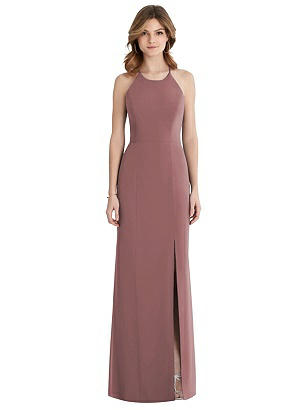Special Order Criss Cross Open-Back Chiffon Trumpet Gown