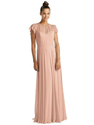Special Order Flutter Sleeve Illusion Bodice Maxi Dress