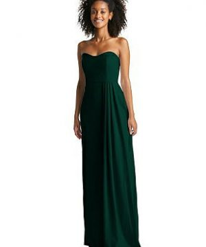 Special Order Strapless Maxi Dress with Pleated Drape Skirt