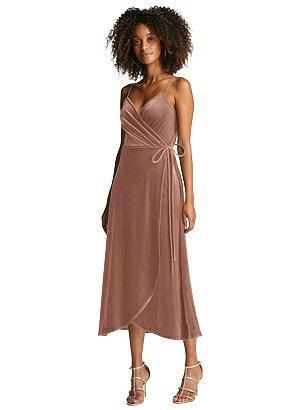 Special Order Velvet Midi Wrap Dress with Pockets