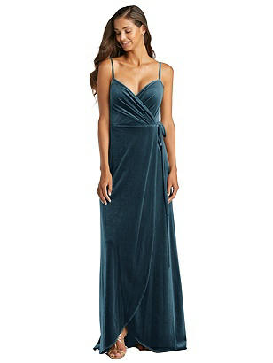 Special Order Velvet Wrap Maxi Dress with Pockets