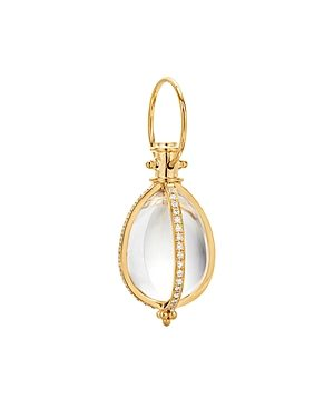 Temple St. Clair 18K Yellow Classic Amulet Rock Crystal & Diamond Pendant