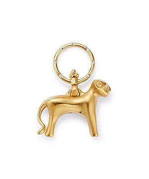 Temple St. Clair 18K Yellow Gold Diamond Standing Lion Pendant