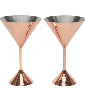 Tom Dixon - Plum Copper Martini Glass - Set of 2