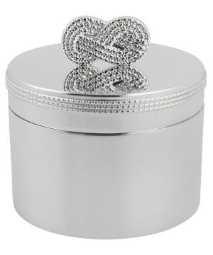 Vera Wang for Wedgwood - Infinity Baby First Tooth Box - Silver