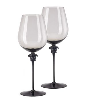 Versace Home - Medusa Lumiere Wine Glasses - Set of 2 - Haze