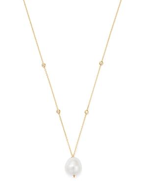 Zoe Chicco 14k Gold Cultured Freshwater Baroque Pearl & Diamond Pendant Necklace