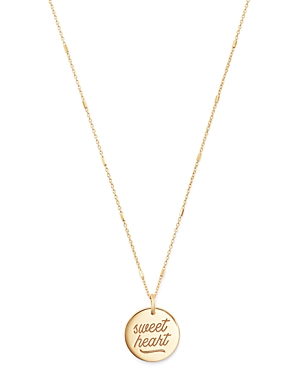 Zoe Chicco 14k Gold Sweetheart Disc Pendant Necklace