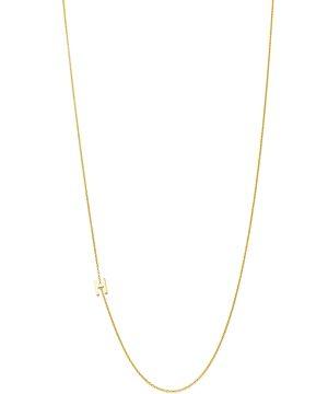 Zoe Lev 14K Yellow Gold Asymmetrical Initial Pendant Necklace, 18L
