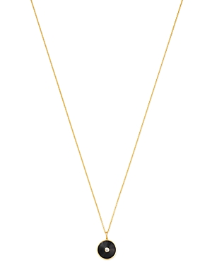 Zoe Lev 14K Yellow Gold Diamond Disc Pendant Necklace, 18