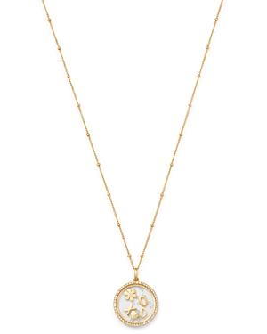 Zoe Lev 14K Yellow Gold Diamond Love Locket Pendant Necklace, 22