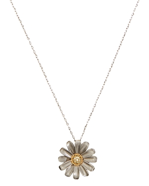 kate spade new york Into the Bloom Flower Pendant Necklace, 17