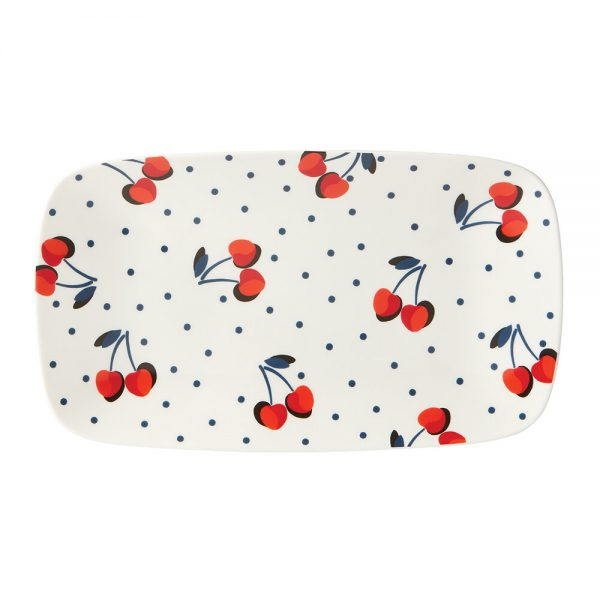 kate spade new york - Vintage Cherry Dot Hors D'Oeuvres Tray