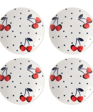 kate spade new york - Vintage Cherry Dot Tidbit Plate - Set of 4