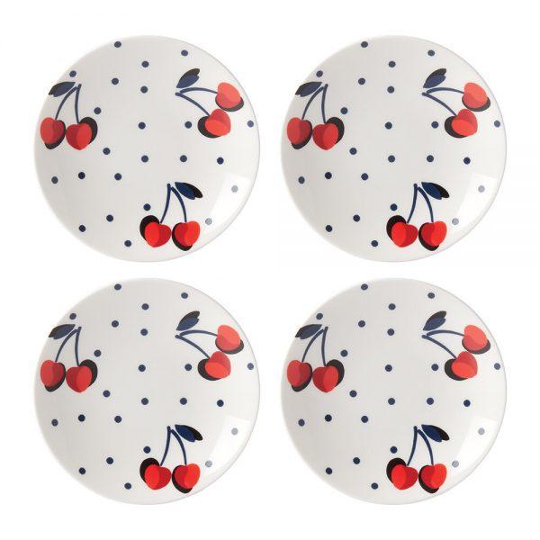 kate spade new york - Vintage Cherry Dot Tidbit Plate - Set of 4