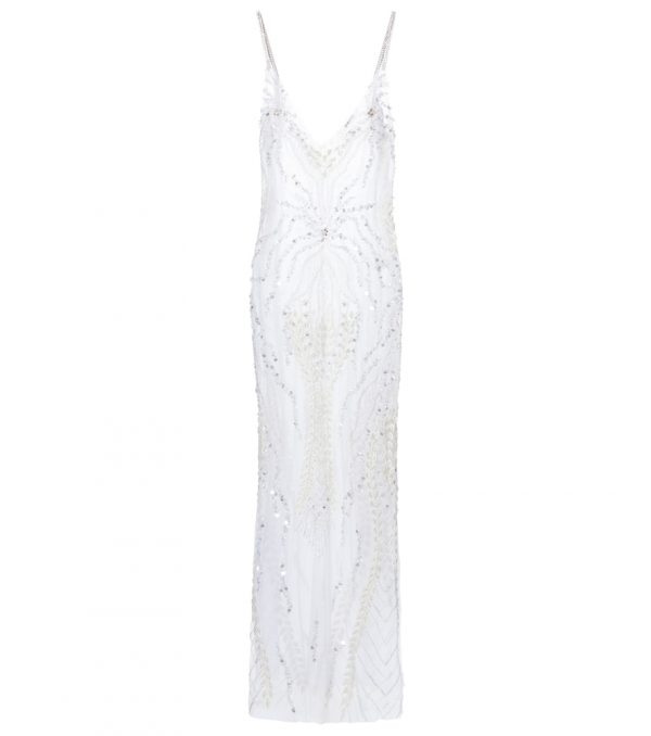 Bridal embellished tulle gown