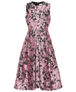 Indra floral brocade dress