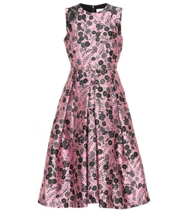 Indra floral brocade dress