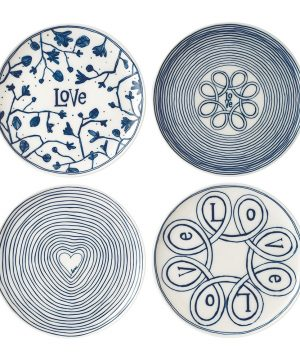 Royal Doulton - Ellen DeGeneres Love Plates - Set of 4 - Large