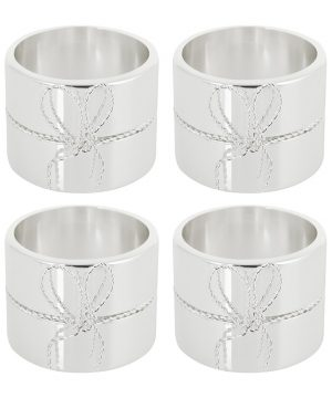 Vera Wang for Wedgwood - Love Knots Napkin Rings - Set of 4