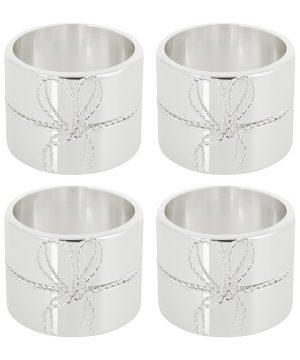 Vera Wang for Wedgwood - Love Knots Napkin Rings - Set of 4