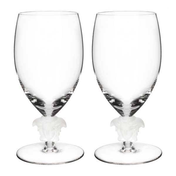 Versace Home - Medusa Lumiere 2nd Edition White Wine Glasses - Set of 2 - Clear