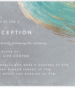 Abstract Splendor Foil-Pressed Reception Cards