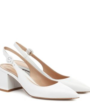 Agata 60 leather slingback pumps