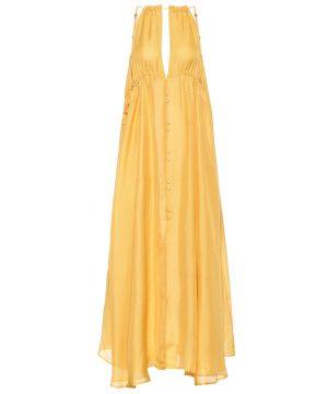 Agatha silk maxi dress