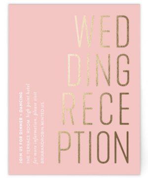An Invitation Foil-Pressed Reception Cards