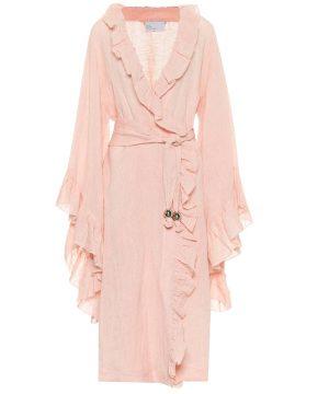 Anita linen-blend dress