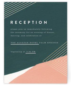 Artful Oneness Foil-Pressed Reception Cards