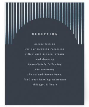 Banded Arch Foil-Pressed Reception Cards