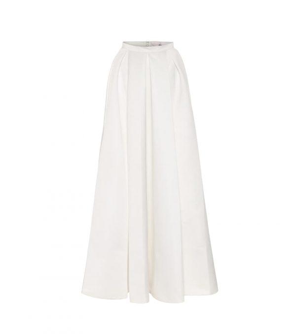 Betsy satin bridal maxi skirt