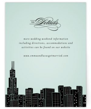 Big City - Chicago Foil-Pressed Direction Cards