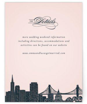 Big City - San Francisco Foil-Pressed Direction Cards