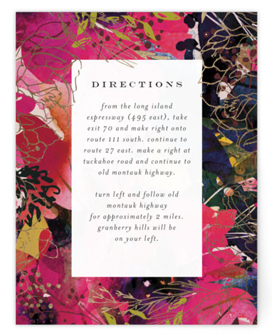 Blooming Beauty Foil-Pressed Direction Cards