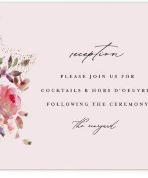 Blossoms Foil-Pressed Reception Cards