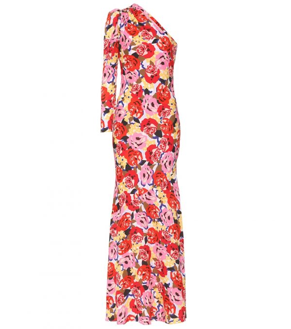 Blume crêpe gown