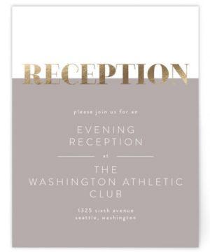 Bold Foil-Pressed Reception Cards