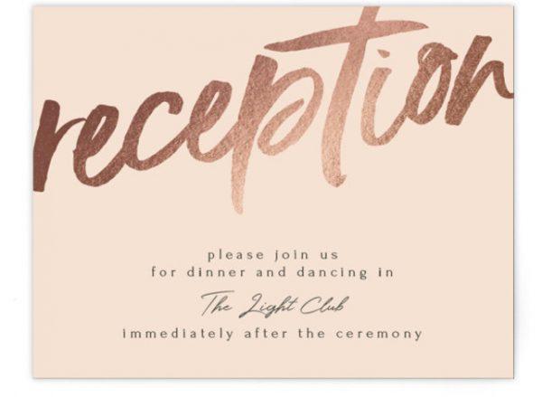 Bold Love Foil-Pressed Reception Cards