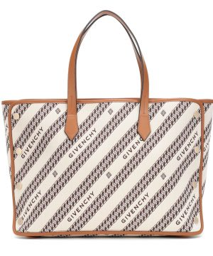 Bond Medium jacquard canvas shopper