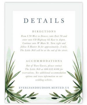 Botanical Frame Directions Cards